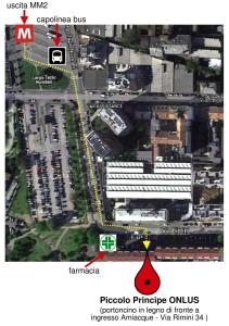 Percorso - Rielaborazione di foto satellitare da Google Maps